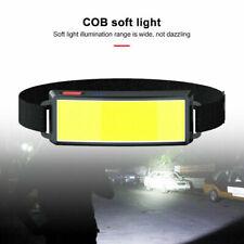 3 Modes COB LED Head Torch USB Rechargeable Headlamp Headlight Waterproof Lamp