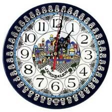 Jerusalem Clock Armenian Ceramic (large) 8.7 in 22 cm (HOLLY LAND ) Hand Made