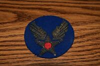 WW 2 US ARMY AIR CORPS WINGS STAR BULLION PATCH GOLD THREAD EMBROIDERED ON FELT