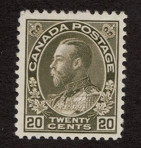 Sc #119 - Canada - 1925 - 20c - Admiral - MLH - F - superfleas - cv$60