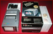 """Vintage 1986 5"""" Portable Color TV W/ Audio Video Ports Boxed Tested and Working!"""