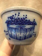 SALMON FALLS STONEWARE POTTERY Small Crock Bowl Blueberry Basket