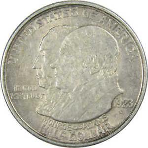 1923 S Monroe Doctrine Centennial Commemorative Half Dollar 90% Silver 50c Coin