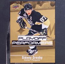 SIDNEY CROSBY  2009/10 UD Playoff Performers  #PP13  Pittsburgh Penguins  Smythe