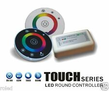 2.4G RGB LED Round Touch Remote Fernbedienung + Stripe Controller 3x6A 18A Weiss