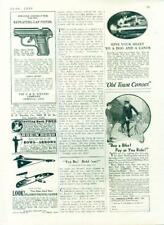 Original Toys Boy Scouts Repeating Cap Pistols Gliders Canoe Wrestling  Ad 1930