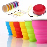 Silicone Foldable Cup Collapsible Drink Mug Travel Outdoor Camping Water Cup Hot