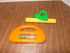 Vintage LITTLE TIKES WORKBENCH TOOLS Level and Slide Ruler Great Shape