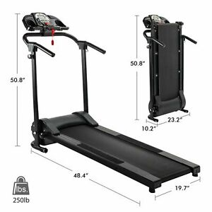 Treadmill Electric Motorized Power Folding Running Fitness Machine Home Gym LCD