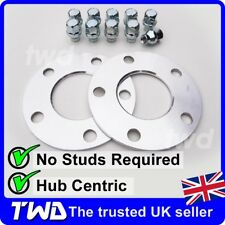 5MM ALLOY WHEEL SPACERS + EXTRA LONG NUTS FOR FORD (5x108 63.4 PCD) SHIM -2J10VS
