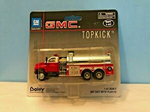 Boley #3020-71 GMC Topkick Red Fire Tanker Truck Retired Authentic Boley