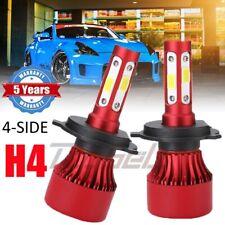 Pair 4-Sided CREE H4 HB2 9003 3000W 436000LM LED Headlight Kit Hi/Lo Power Bulbs