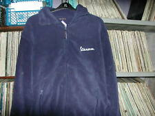 Vespa scooter logo fleece in Navy size XL embroidered logo