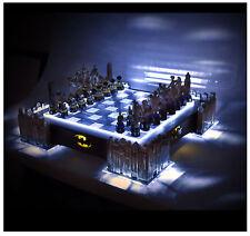 Special Collectors Edition - Batman Pewter Chess Set - LED Gotham Cityscape
