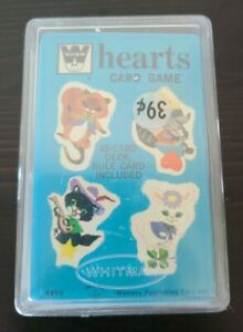 NOS 1963 Whitman HEARTS card game #4494 SEALED with Plastic Hard Case