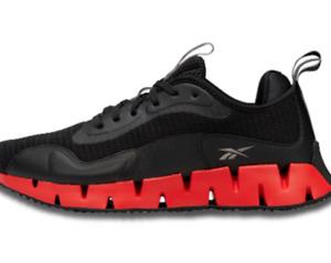 New Reebok Zig Dynamica Mens athletic sneaker black crimson red 8-12