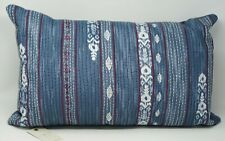 "Lucky Brand Kantha 14"" x 22"" Embroidered Geometric Cotton Decorative Pillow"