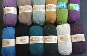 CLEARANCE King Cole Moods 100g DK Double Knit Balls - Choice of Colours