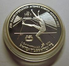 1982 Greece Silver Proof 100 drachma-1896 Olympics High Jumper