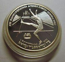 1982 Greece Silver Proof 100 drachma-1896 Olympics High Jumper