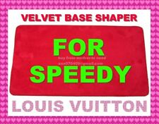 Red Microfiber Base Shaper Liner Board that fit the Louis Vuitton Speedy 30 Bag