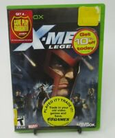 X-MEN LEGENDS GAME FOR MICROSOFT XBOX, GAME DISC, CASE & MANUAL, COMPLETE, GUC
