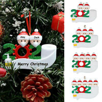 2020 Christmas Tree Snowman Hanging Pendant DIY Personalized Quarantined At Home Survived Family Ornament BSTiltion Survived Family Ornament Xmas Tree Decorations Survived Lockdown 2020 Gift