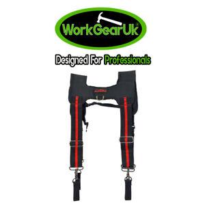 WorkGearUK Tool Belt Braces With 4 Belt Loops - WG-HDB02