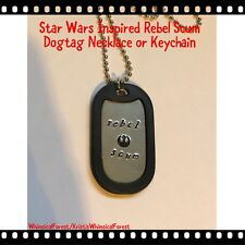 Handmade Star Wars Inspired Rebel Scum Dog Tag Necklace or Keychain Gift Geeky