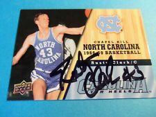 Rusty Clark Signed Autographed North Carolina Basketball Card Upper Deck