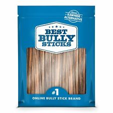 Best Bully Sticks 6-inch Gullet Thin Stick Dog Treats (25 Pack) - All-Natural...