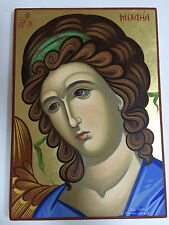 Archangel Michael handpainted Greek Christian Orthodox byzantine icon