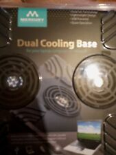 Merkury Innovations Dual Cooling Base For Laptop Or Notebook
