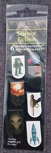 6 X SCIENCE FICTION THEMED MAGNETIC MINI BOOKMARKS BY MINI MARKS GIFT PRESENT