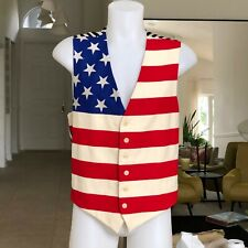 CHEAP and CHIC by MOSCHINO wool vest American Flag print size ITA 54