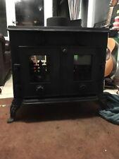 evergreen wood burning stove dual aspect multi fuel 7 - 10 kw