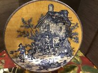 Set Of 2 American Atelier At Home English Toile 5076 Porcelain Dessert Plate