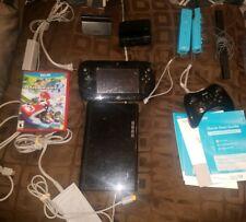 Nintendo Wii U Set 32GB Deluxe set Black  W/Box ,Extra remotes and Mario Kart 8