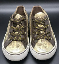 "Baby Phat "" LOGO BABE "" Brown And Gold Low top Sneaker Size 10 Baby Girl"