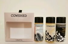 Cowshed London Set of 3 Travel Size Shower Gel,Shampoo,Conditioner England, New