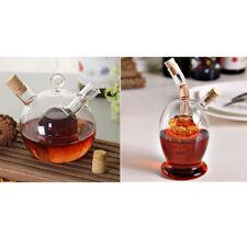 2x 2-Outlet Glass Olive Oil Jar Vinegar Bottle Kitchen Sauce Cruet Dispenser