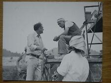 Sam Peckinpah: CROSS OF IRON b/w 8x10 Candid WWII STEINER #6 Peckinpah directing