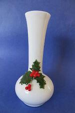 Christmas 6in. Ceramic White Vase