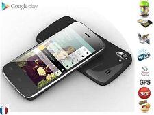 Téléphone smartphone débloqué Android 4 pouce Wifi GPS 3G 1Ghz 512Mo Noir A306