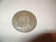 piece de 50 francs argent ,1975