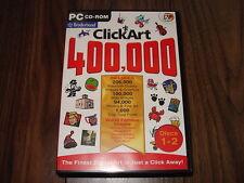 PC Broderbund Clickart Click Art 400000 400,000 4 Discs Brand New