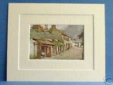 CONISTON OLD BUTCHERS SHOP CUMBRIA RARE VINTAGE DOUBLE MOUNTED 1908 PRINT 10X8