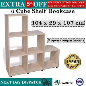 6 Cube Shelf Bookcase Storage Unit Furniture NEW Shelf Book Display NEW