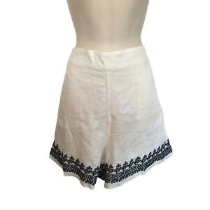 J. Crew Eyelet Embroidered-Trim Beauchamps Linen Shorts 16 XL NWT