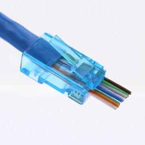 WAHHING 20pcs RJ45 Network Connector 8P8C jack Plug Cat6 Cat5e Cable EZ
